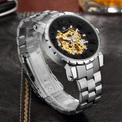 Zegarek Orkina Open Heart srebrny