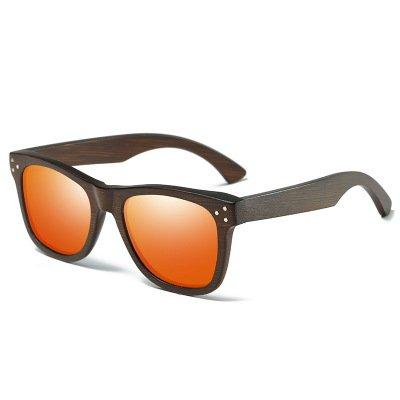 Drewniane okulary przeciwsłoneczne B01-pomarańczowe – bambus