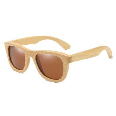Drewniane okulary przeciwsłoneczne B06- brązowe – bambus