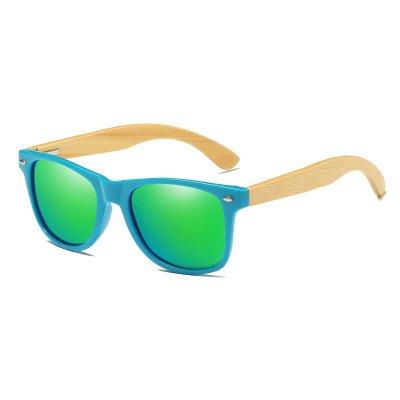 Drewniane okulary przeciwsłoneczne C01- zielone – bambus
