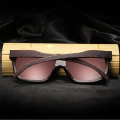 Drewniane okulary przeciwsłoneczne B04- pomarańczowe - bambus 5