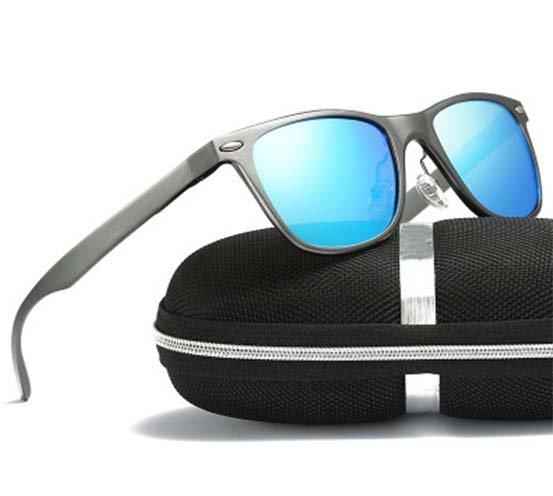 Okulary przeciwsłoneczne aluminiowe M04- niebieskie 12