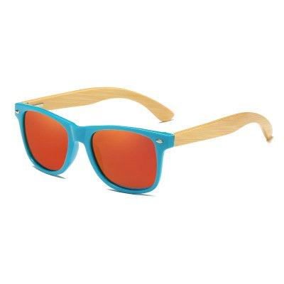 Drewniane okulary przeciwsłoneczne C01- pomarańczowe – bambus