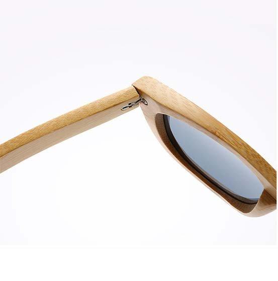 Drewniane okulary przeciwsłoneczne B06- fioletowe - bambus 6