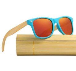 Drewniane okulary przeciwsłoneczne C01- pomarańczowe - bambus 3
