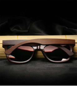 Drewniane okulary przeciwsłoneczne B01-pomarańczowe - bambus 1