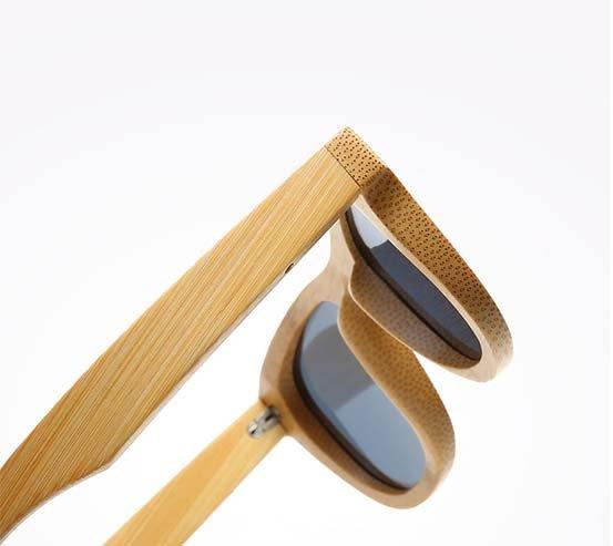 Drewniane okulary przeciwsłoneczne B06- fioletowe - bambus 7