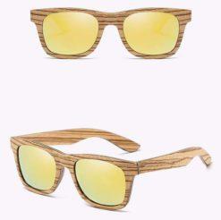 Drewniane okulary przeciwsłoneczne B05- żółte – zebrano
