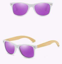 Drewniane okulary przeciwsłoneczne C03- fioletowe – bambus