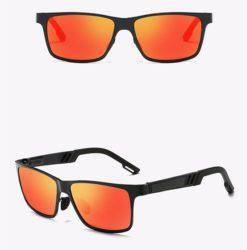 Okulary przeciwsłoneczne aluminiowe M01 – pomarańczowe
