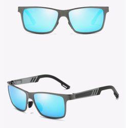 Okulary przeciwsłoneczne aluminiowe M01- niebieskie 1