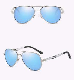 Okulary przeciwsłoneczne aluminiowe M03- niebieskie 1