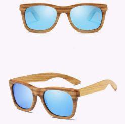 Drewniane okulary przeciwsłoneczne B02- niebieskie – zebrano