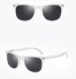 Okulary przeciwsłoneczne aluminiowe M04- srebrno-czarne