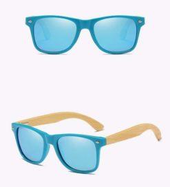 Drewniane okulary przeciwsłoneczne C01- niebieskie – bambus