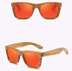 Drewniane okulary przeciwsłoneczne B02- pomarańczowe – zebrano