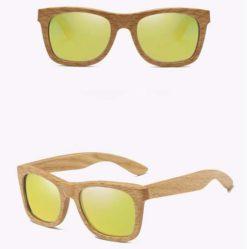 Drewniane okulary przeciwsłoneczne B03- żółte – dąb