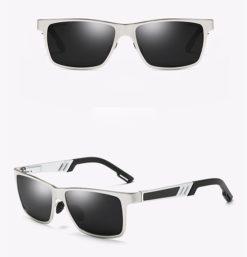Okulary przeciwsłoneczne aluminiowe M01- srebrno czarne