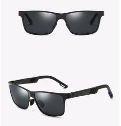 Okulary przeciwsłoneczne aluminiowe M01- czarne