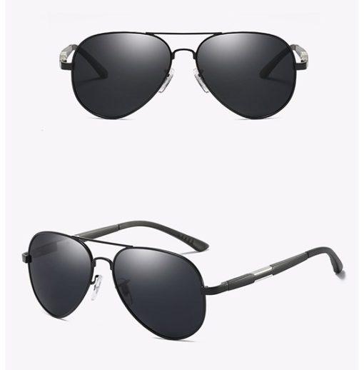Okulary przeciwsłoneczne aluminiowe M03- czarne