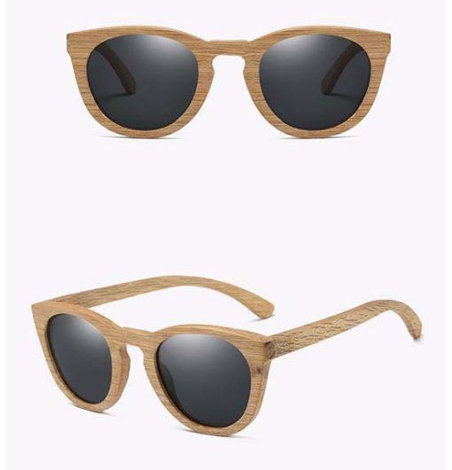 Drewniane okulary przeciwsłoneczne B08- czarne – dąb