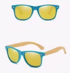 Drewniane okulary przeciwsłoneczne C01- żółte – bambus