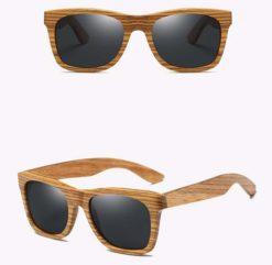 Drewniane okulary przeciwsłoneczne B02- czarne – zebrano