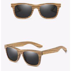 Drewniane okulary przeciwsłoneczne B05- czarne – zebrano