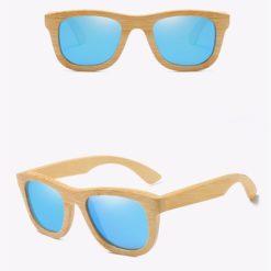 Drewniane okulary przeciwsłoneczne B06- niebieskie – bambus