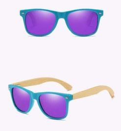 Drewniane okulary przeciwsłoneczne C01- fioletowe – bambus