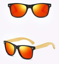 Drewniane okulary przeciwsłoneczne C02- pomarańczowe
