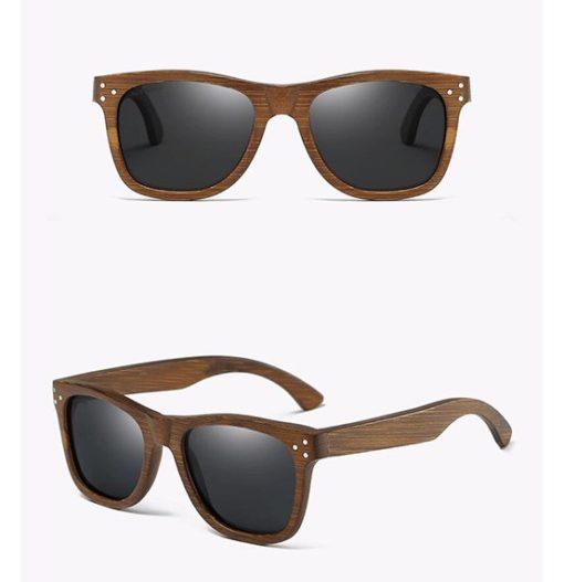 Drewniane okulary przeciwsłoneczne B01-czarne – bambus
