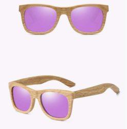Drewniane okulary przeciwsłoneczne B03- fioletowe – dąb