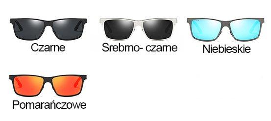 Okulary przeciwsłoneczne aluminiowe M01- niebieskie 9