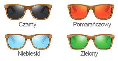 Drewniane okulary przeciwsłoneczne B02- czarne - zebrano 4