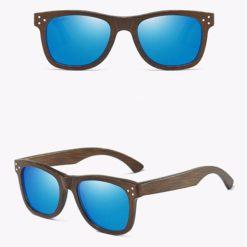 Drewniane okulary przeciwsłoneczne B01- niebieskie – bambus