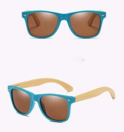 Drewniane okulary przeciwsłoneczne C01- brązowe – bambus