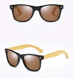 Drewniane okulary przeciwsłoneczne C02- brązowe – bambus
