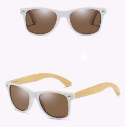 Drewniane okulary przeciwsłoneczne C03- brązowe – bambus