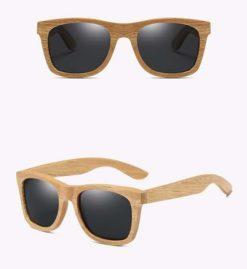 Drewniane okulary przeciwsłoneczne B03- czarne – dąb