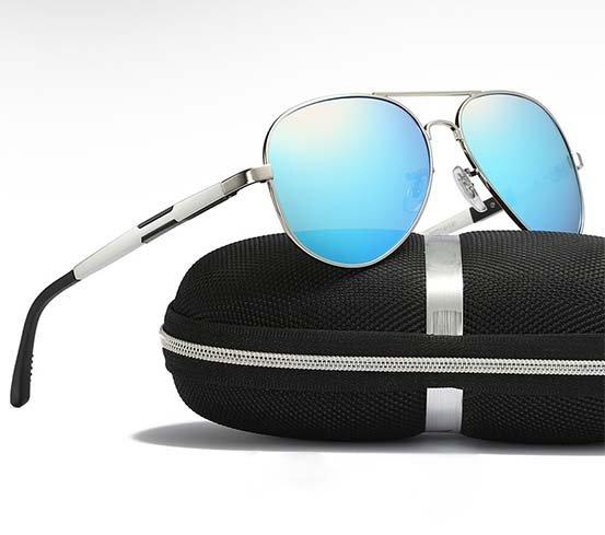 Okulary przeciwsłoneczne aluminiowe M03- niebieskie 8