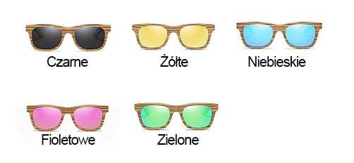 Drewniane okulary przeciwsłoneczne B05- zielone - zebrano 5
