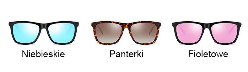 Okulary przeciwsłoneczne aluminiowe M02- panterki 5