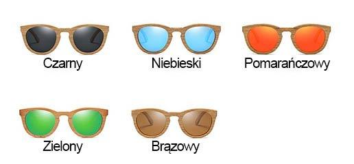 Drewniane okulary kolory