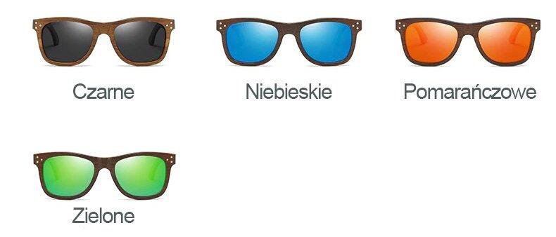 Drewniane okulary przeciwsłoneczne B01-czarne - bambus 11