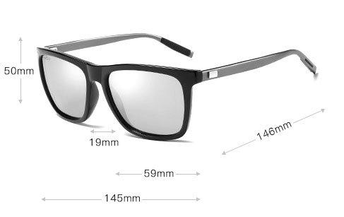 okulary przeciwsłoneczne aluminiowe m02 wymiary