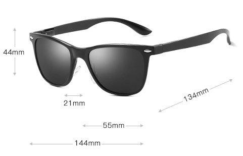 Okulary przeciwsłoneczne aluminiowe M04- czarne 3