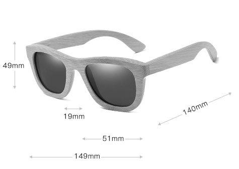 okulary bambusowe b06 drewniane wymiayr