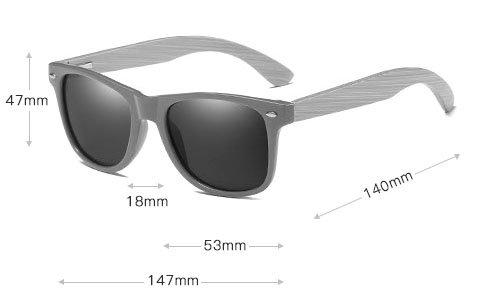 Drewniane okulary przeciwsłoneczne C01- pomarańczowe - bambus 4
