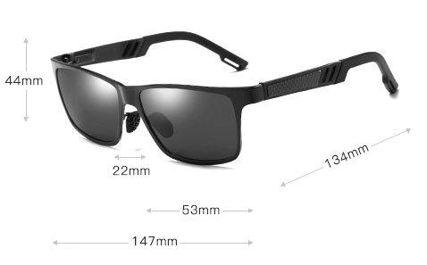 Wymiary okularów aluminiowych m01